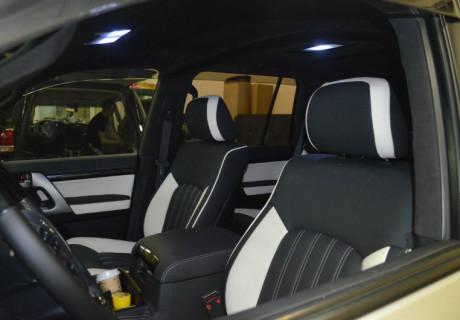 Полный перешив салона Toyota Landcruiser 200 в кожу